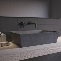 Lavabo da appoggio / conico / in calcestruzzo / moderno