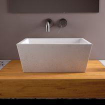 Lavabo da appoggio / rettangolare / in calcestruzzo / moderno