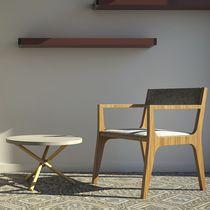 Tavolino basso moderno / in terrazzo / in calcestruzzo / rotondo