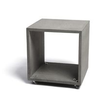 Tavolino basso moderno / in calcestruzzo / rettangolare / da interno