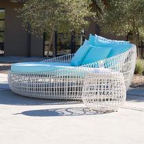 Dormeuse moderno / in alluminio / in fibre sintetiche / da giardino
