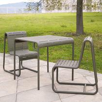 Sedia da giardino moderna / a slitta / in alluminio