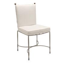 Sedia da giardino classica / in acciaio inossidabile / professionale