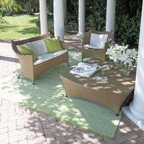 Divano classico / da giardino / in alluminio / in fibre sintetiche