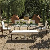 Panca da giardino / classica / in acciaio inox