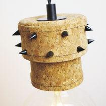 Lampada a sospensione / design originale / in metallo / in sughero