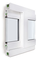 Finestra scorrevole / in PVC / a doppi vetri