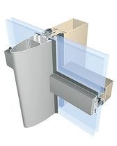 Facciata continua a montanti e traversi / in alluminio e vetro