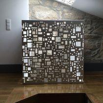 Pannello decorativo in metallo / per interni / retroilluminato / testurizzato