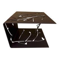 Tavolo d'appoggio design originale / in alluminio / rettangolare / da esterno