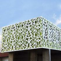 Rivestimento di facciata in metallo / opaco / perforato / termolaccato