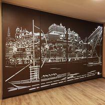 Pannello decorativo in metallo / da parete / per interni / per muro