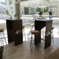 Tavolo alto moderno / in alluminio termolaccato / rettangolare / da esterno