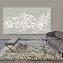 Pannello decorativo in alluminio / da parete / per interni / per parete