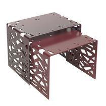 Tavolo d'appoggio design originale / in metallo / in alluminio / rettangolare