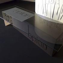 Tavolo da conferenza design originale / in alluminio laccato / rettangolare / per ufficio