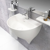 Lavabo sospeso / in Solid Surface / moderno
