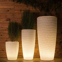 Vaso da giardino in polietilene / rotondo / luminoso