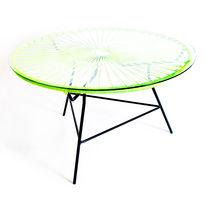 Tavolino basso moderno / in vetro / in acciaio / in plastica