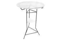 Tavolo alto moderno / in vetro / in acciaio / in plastica