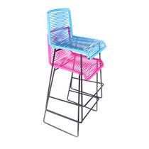 Sedia alta moderna / impilabile / 100% riciclabile / a slitta