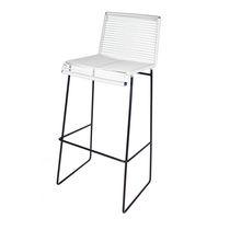 Sedia alta moderna / impilabile / 100% riciclabile / in plastica