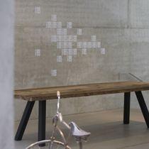 Panca da giardino / moderna / in quercia / in acciaio