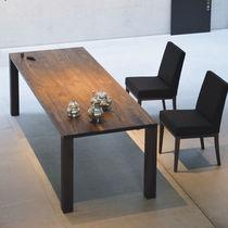 Tavolo moderno / impiallacciato in legno / rettangolare / da giardino