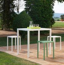 Sgabello moderno / in metallo / da giardino / verde