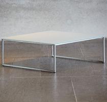 Tavolino basso moderno / in legno laccato / impiallacciato in legno / in acciaio