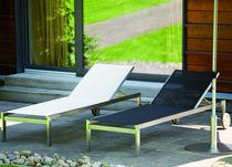 Prendisole moderno / in teak / in acciaio inossidabile / da giardino