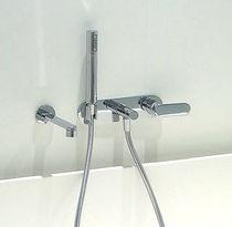 Miscelatore per vasca / da incasso / in metallo cromato / in ottone