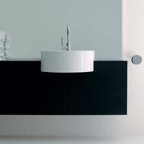 Lavabo da semincasso / rotondo / in ceramica / moderno
