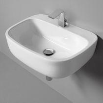 Lavabo sospeso / in ceramica / moderno