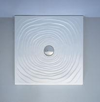 Piatto doccia quadrato / in ceramica / rasoterra / ultrapiatto