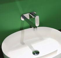 Miscelatore per lavabo / da parete / in metallo cromato / in ottone