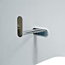 Distributore di carta igienica da parete / in metallo cromato / professionale
