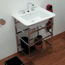 Supporto per lavabo in cromo