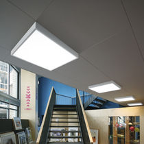 Luce a sospensione / LED / rettangolare / quadrata