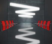 Luce a sospensione / a lampada fluorescente / lineare / in metacrilato