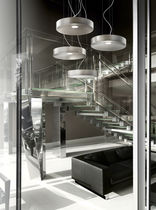 Luce a sospensione / LED / rotonda / in alluminio