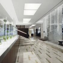 Luce da incasso a soffitto / LED / quadrata / in alluminio estruso