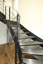 Scala a U / con gradini in acciaio inox / con struttura in acciaio / senza alzata
