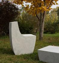 Sedia da giardino moderna / in cemento / in fibrocemento
