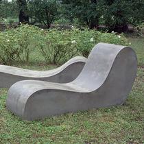 Chaise longue moderna / in cemento / da giardino / per terrazza
