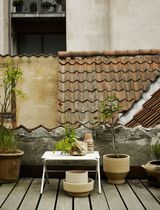 Tavolo d'appoggio moderno / in acciaio / rettangolare / da giardino