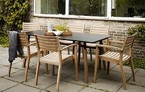 Tavolo da pranzo moderno / in teak / in laminato / rettangolare