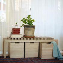 Panca moderna / in quercia / in legno esotico
