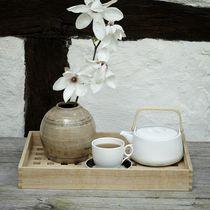 Vassoio in teak / per uso residenziale