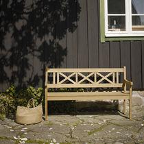 Panca da giardino / moderna / in teak / con braccioli